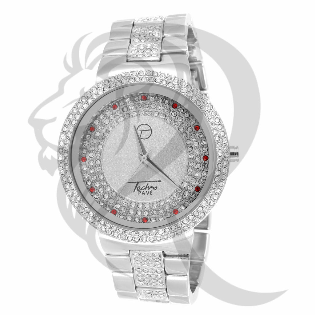 45MM IcedOut White Gold Men's Watch
