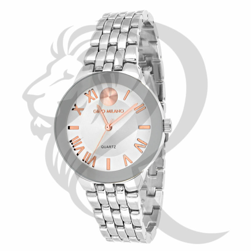 34MM Plain White Gino Milano Watch