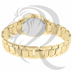 36MM Yellow Gold Tone Gino Milano Watch