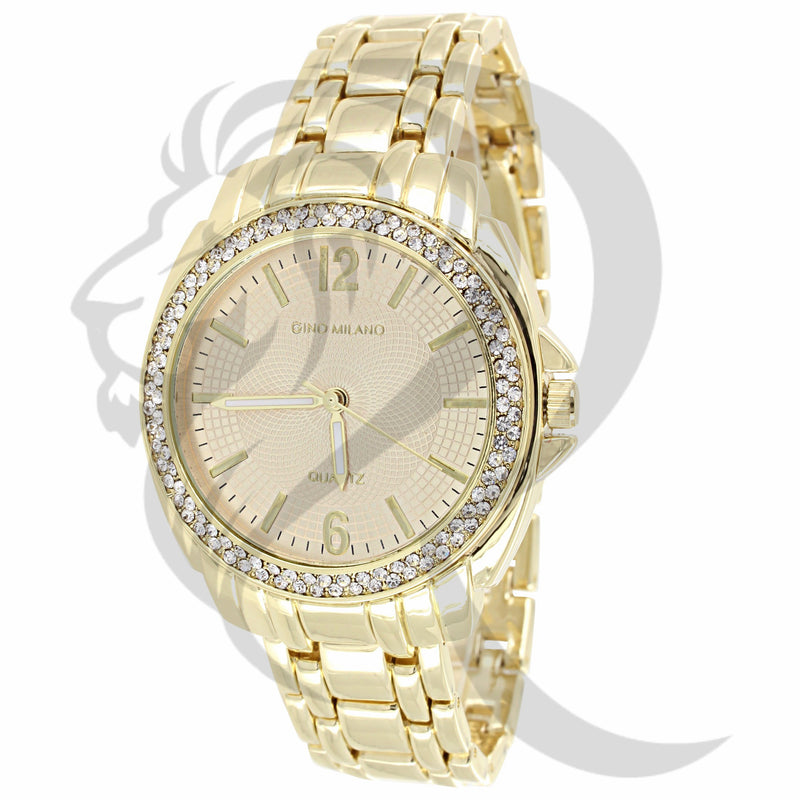 36MM Yellow IcedOut Bezel Watch