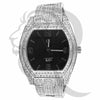 46MM Black Face IcedOut Men's Techno Pave Watch