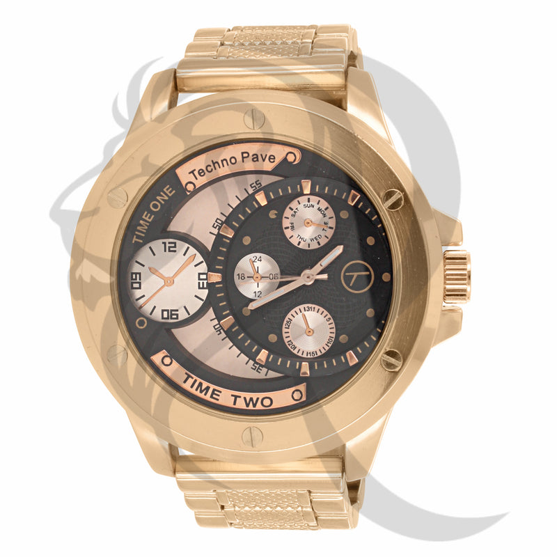 Rose Gold Multi Dial 55MM Men's Watch