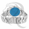 Blue Dial 46MM Oval Face Icedout Men's Watch
