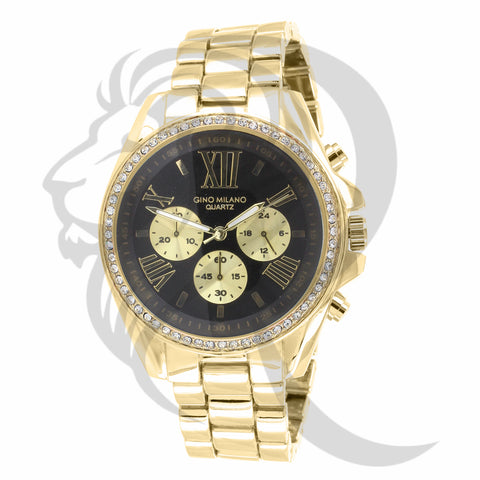41MM Yellow Gold Black Dial Watch
