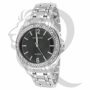 36MM Black & White Icedout Watch