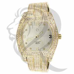 White Dial 46MM Oval Face IcedOut Men's Watch