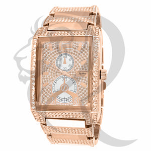Rose Gold tone IcedOut 38MM Men's Watch