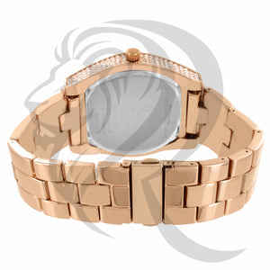 46MM Rose Gold Tone Oval IcedOut Men's Watch