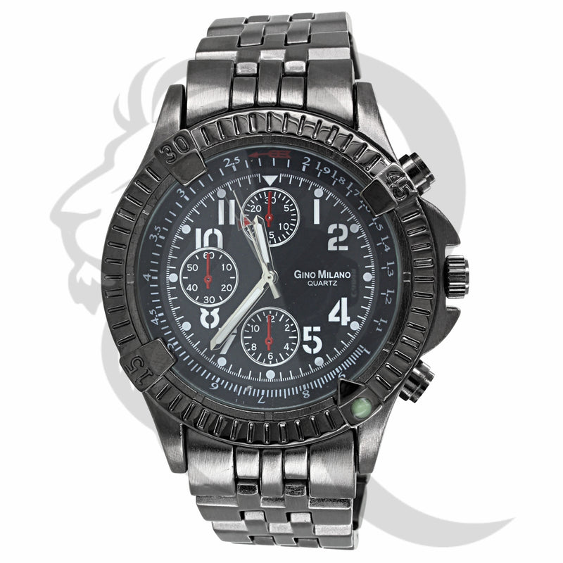 All Black Multi Dial 46MM Milano Men's Watch