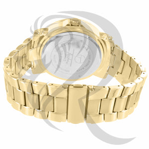 Yellow Gold 48MM Illusion Dial Men's Watch