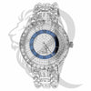 Illusion Dial 45MM Baguette Solitaire IcedOut Watch