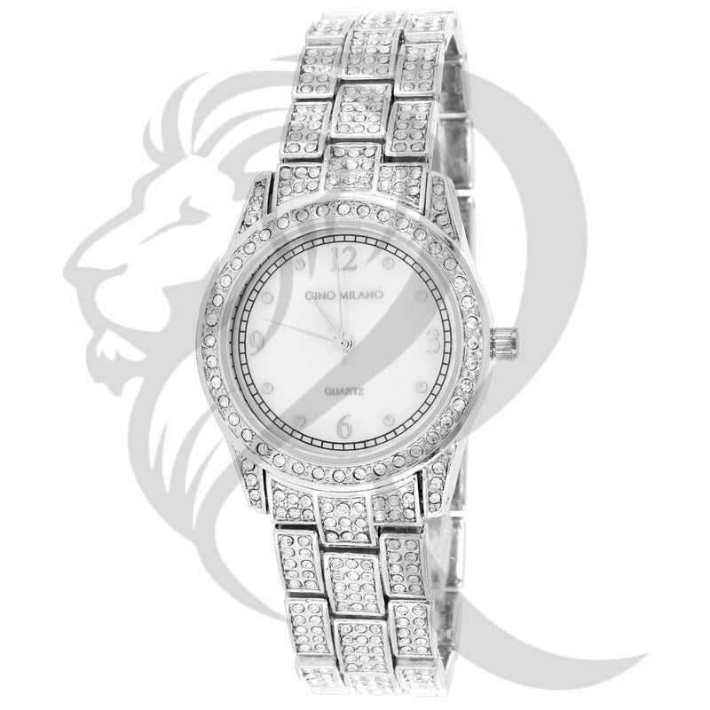 30MM Small Face IcedOut Ladies Gino Milano Metal Watch