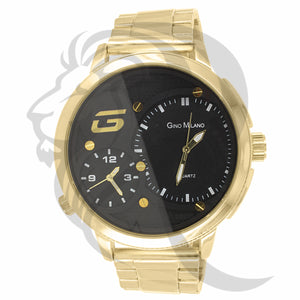 Black Dial Yellow Tone Body 53MM Watch