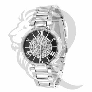 32MM Black & White Dial Watch