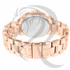 Rose Gold IcedOut Face 39MM Milano watch
