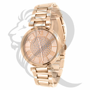 32MM Rose Gold Icedout Dial Watch