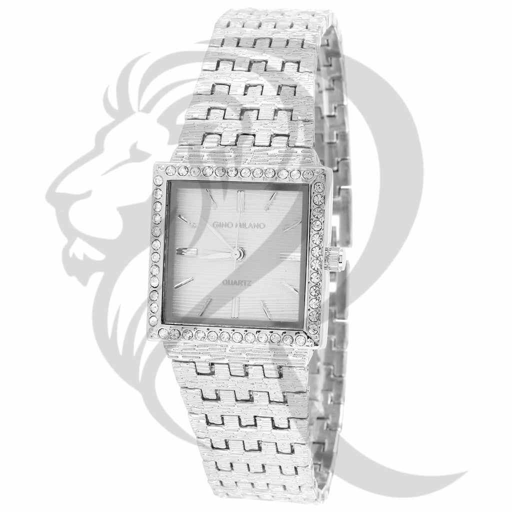 25MM Square Face Plain Nugget Style Gino Milano Ladies Watch