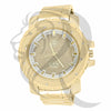 52MM Yellow Illusion Dial Techno Pave Watch