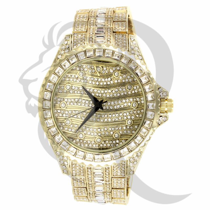 46MM Princess Cut Bezel All IcedOut Techno Pave Watch