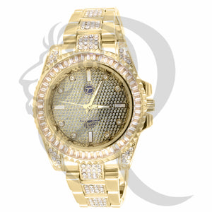 41MM Baguette Stone Bezel IcedOut Watch