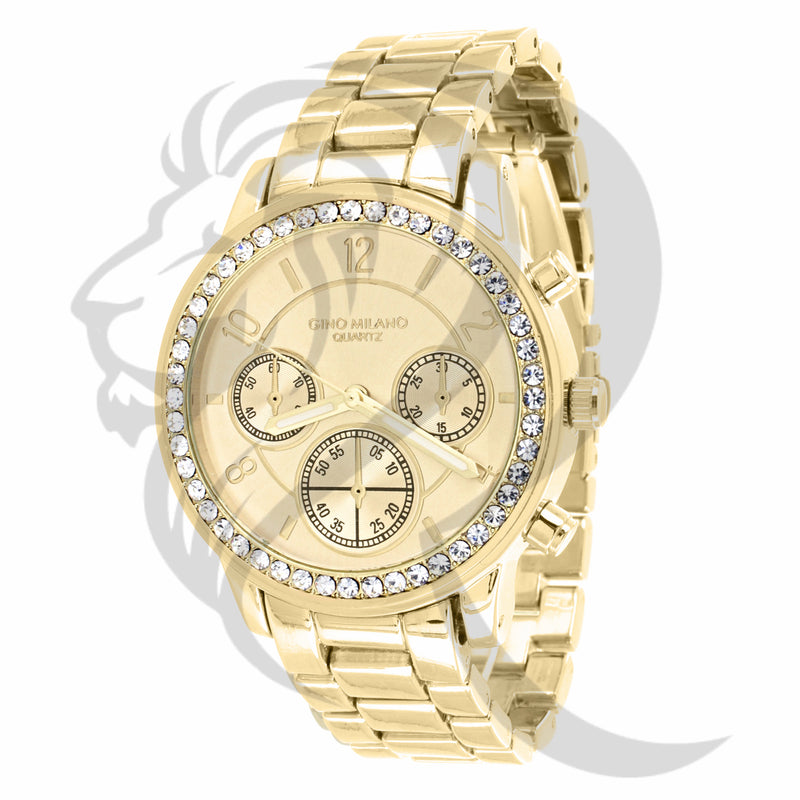 Yellow Gold Finish 37MM Milano Watch