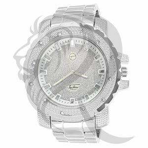 All White 52MM Illusion Dial Plain Watch