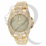 Yellow Gold Baguette Bezel 41MM Men's Watch
