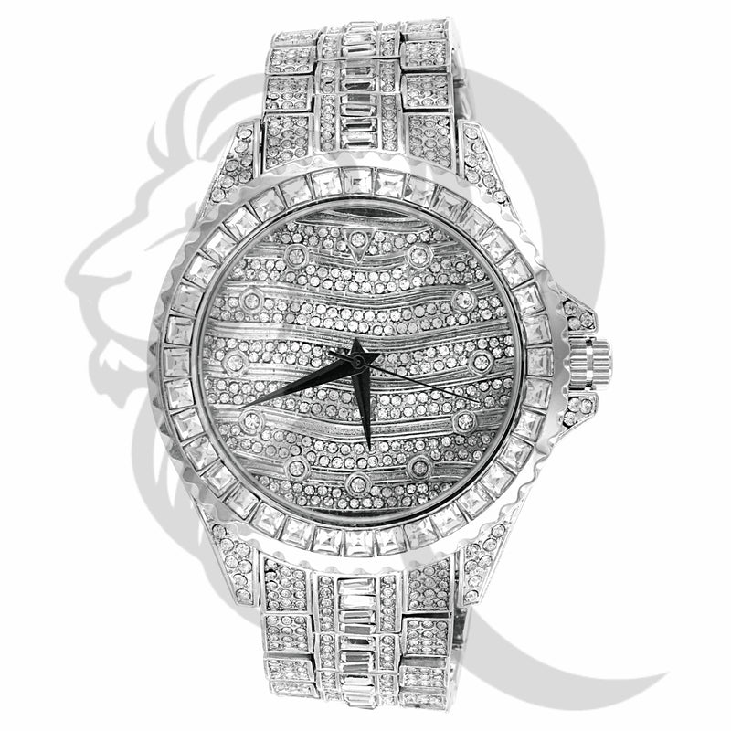 IcedOut 46MM Princess Cut Baguette IcedOut Watch