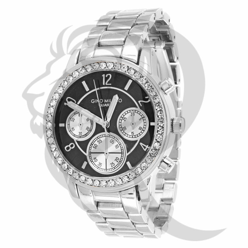 37MM Black & White Gino Milano Watch