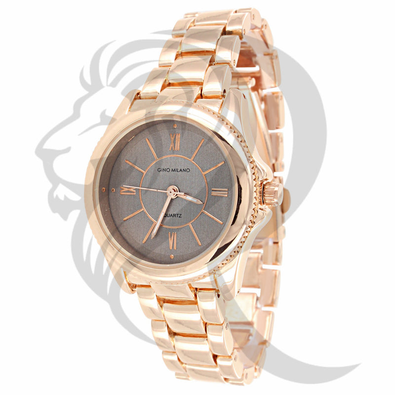 30MM Plain Rose Tone Watch