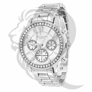 All White Icedout Bezel Milano Watch