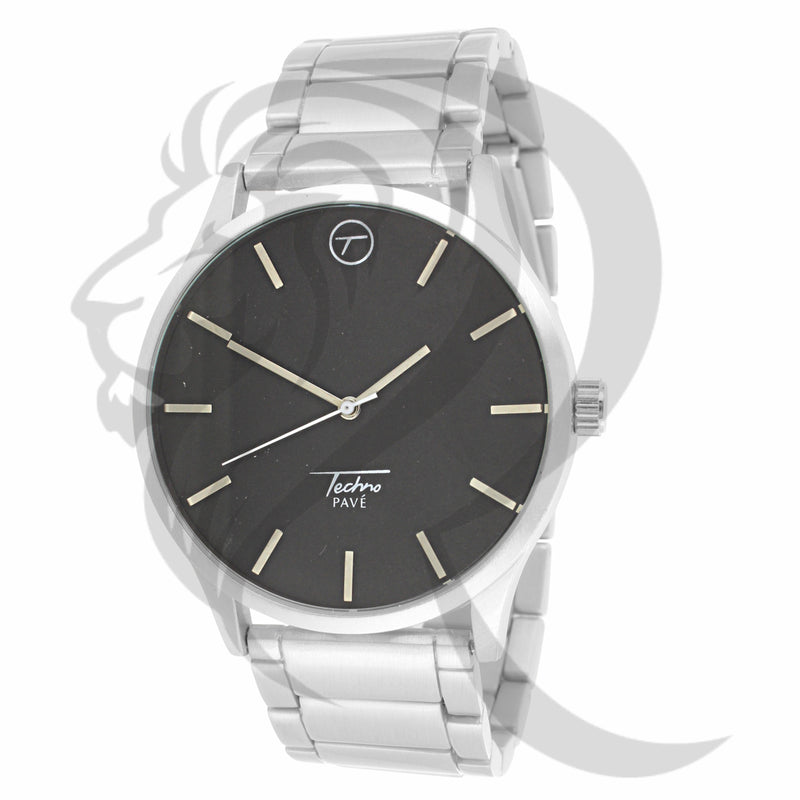 45MM Black & White Techno Pave Watch