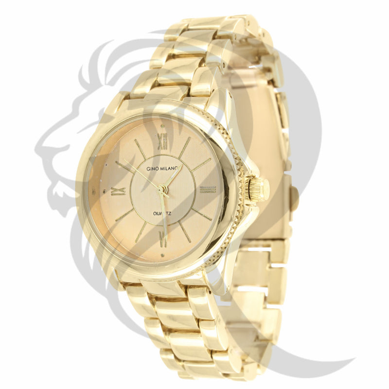 Plain 30MM Yellow Dial Watch