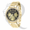 37MM Black Dial IcedOut Gino Milano Watch
