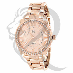 Rose Gold Icedout Dial Watch