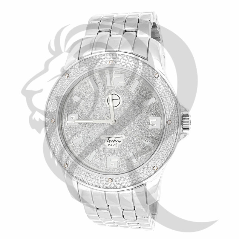 48MM Illusion Dial All White Tone Watch