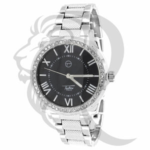 Black Dial Icedout Bezel Watch
