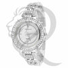 White Gold Finish IcedOut Face 34MM Watch