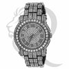 44MM Full Bling Black Tone Men's Watch