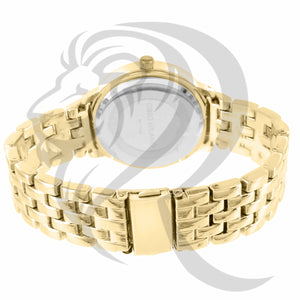 38MM Yellow Gold IcedOut Face Watch