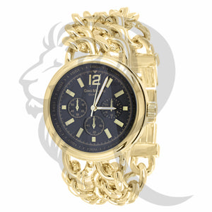 38MM Black Dial Yellow Gold Plain Watch