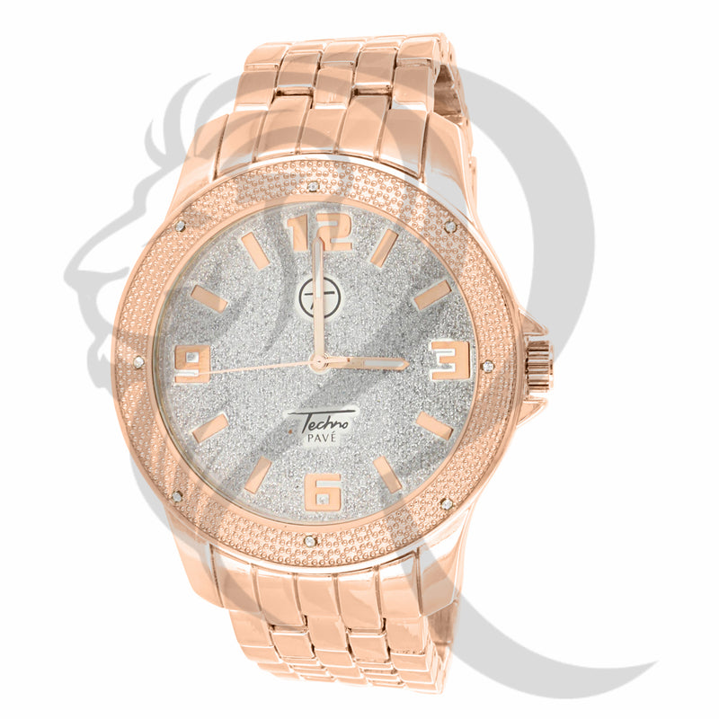 Rose Gold 48MM White Illusion Dial Watch