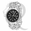 38MM Black Dial Cuban Links Band Watch