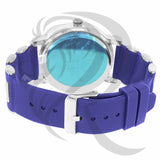 Blue Bullet Band IcedOut Face 48MM Watch