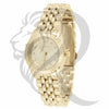 26MM Fluted Bezel Plain Yellow Gold Tone Gino Milano Watch
