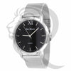 40MM Black Dial Plain White Body Mesh Band Watch