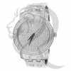 White Tone IcedOut Face 48MM Men's Watch