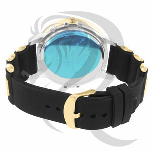 Two-Tone IcedOut Bullet Band 50MM Watch