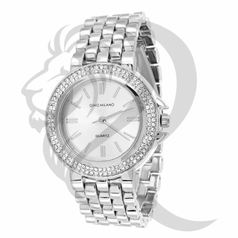 All White 36MM Gino Milano Watch