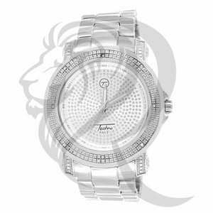 43MM Plain White Illusion Dial Men's Watch
